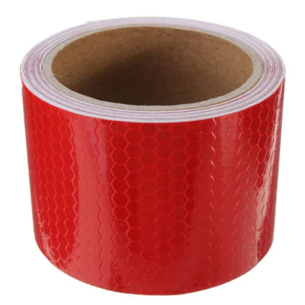 reflectorband, reflecterende tape, veiligheids tape, reflector, refelcterende, rood en wit
