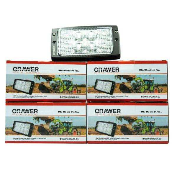 4x crawler inbouw dakrand werklamp 40w cree voordeelpakket